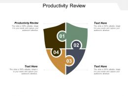 Productivity Review Ppt Powerpoint Presentation Inspiration Deck Cpb