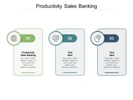 Productivity Sales Banking Ppt Powerpoint Presentation Infographics Structure Cpb