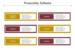 Productivity Software Ppt Powerpoint Presentation Summary Show Cpb