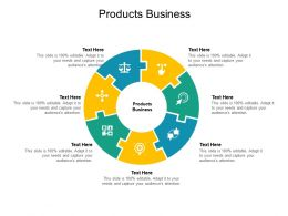 Products Business Ppt Powerpoint Presentation Portfolio Outfit Cpb