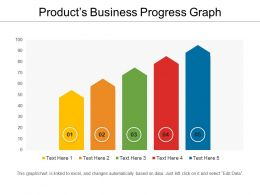 Products Business Progress Graph Powerpoint Ideas