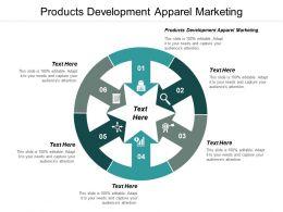 Products Development Apparel Marketing Ppt Powerpoint Presentation Model Ideas Cpb