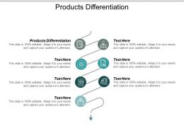 Products Differentiation Ppt Powerpoint Presentation Gallery Themes Cpb