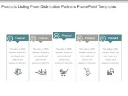 Products Listing From Distribution Partners Powerpoint Templates