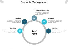 Products Management Ppt Powerpoint Presentation Infographics Maker Cpb