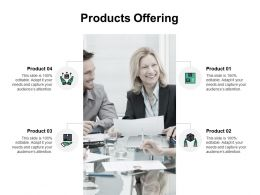Products Offering Team B175 Ppt Powerpoint Presentation File Layout