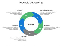 Products Outsourcing Ppt Powerpoint Presentation Layouts Information Cpb
