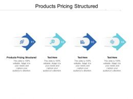 Products Pricing Structured Ppt Powerpoint Presentation Show Slide Download Cpb