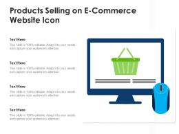 Products Selling On E Commerce Website Icon