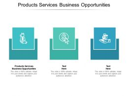 Products Services Business Opportunities Ppt Powerpoint Presentation File Microsoft Cpb