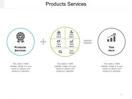 Products Services Ppt Powerpoint Presentation Icon Infographic Template Cpb