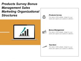 Products Survey Bonus Management Sales Marketing Organizational Structures Cpb