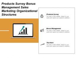 Products Survey Bonus Management Sales Marketing Organizational Structures Cpb