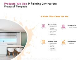 Products We Use In Painting Contractors Proposal Template Ppt Powerpoint Presentation File