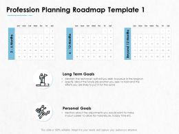 Profession Planning Roadmap Personal Goals Ppt Powerpoint Presentation Pictures Outfit