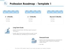 Profession Roadmap Goals Ppt Powerpoint Presentation Topics