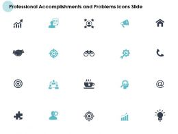 Professional Accomplishments And Problems Icons Slide Soical Ppt Slides