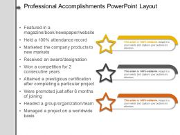 Professional Accomplishments Powerpoint Layout