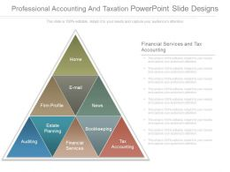 Professional Accounting And Taxation Powerpoint Slide Designs