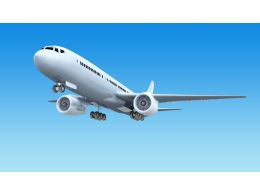 Professional Aircraft For Passengers Stock Photo