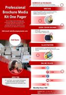 Professional Brochure Media Kit One Pager Presentation Report Infographic PPT PDF Document