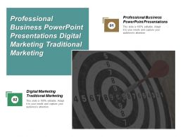 Professional Business Powerpoint Presentations Digital Marketing Traditional Marketing Cpb