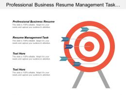 Professional Business Resume Management Task List Hotel Lead Management Cpb