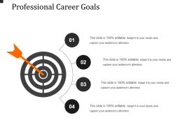 Professional Career Goals Powerpoint Slide Download