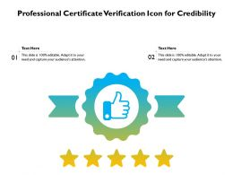 Professional Certificate Verification Icon For Credibility