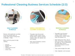 Professional Cleaning Business Services Schedule Cleaning Ppt Gallery