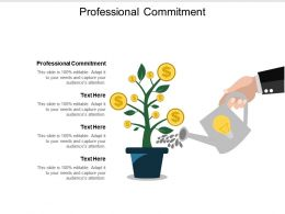 Professional Commitment Ppt Powerpoint Presentation File Ideas Cpb