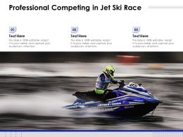 Professional Competing In Jet Ski Race