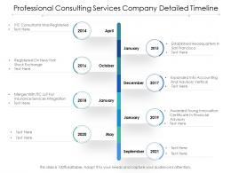 Professional Consulting Services Company Detailed Timeline