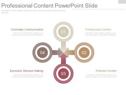 Professional Content Powerpoint Slide