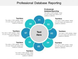 Professional Database Reporting Ppt Powerpoint Presentation File Mockup Cpb