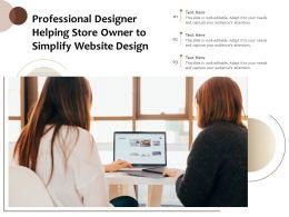 Professional Designer Helping Store Owner To Simplify Website Design