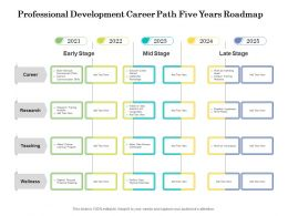 Professional Development Career Path Five Years Roadmap