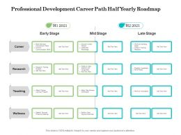 Professional Development Career Path Half Yearly Roadmap