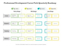 Professional Development Career Path Quarterly Roadmap