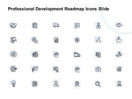 Professional Development Roadmap Icons Slide Growth Ppt Powerpoint Presentation Gallery Objects