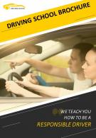 Professional Driving School Four Page Brochure Template