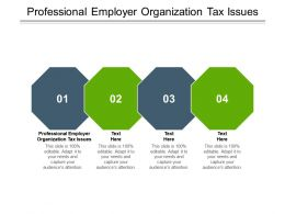 Professional Employer Organization Tax Issues Ppt Powerpoint Presentation Ideas Cpb