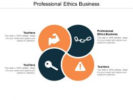 Professional Ethics Business Ppt Powerpoint Presentation File Diagrams Cpb