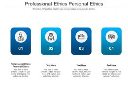 Professional Ethics Personal Ethics Ppt Powerpoint Presentation Infographic Pictures Cpb