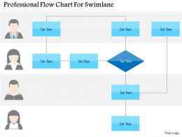 Professional Flow Chart For Swimlane Flat Powerpoint Design