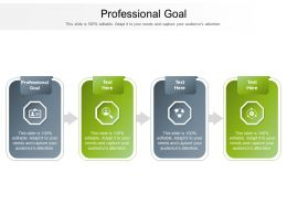 Professional Goal Ppt Powerpoint Presentation Gallery Ideas Cpb