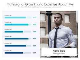Professional Growth And Expertise About Me Infographic Template