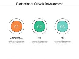 Professional Growth Development Ppt Powerpoint Presentation Ideas Themes Cpb
