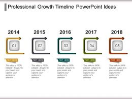 Professional Growth Timeline Powerpoint Ideas