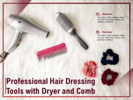 Professional Hair Dressing Tools With Dryer And Comb
